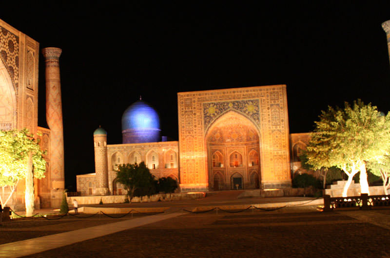 Samarkand, light show at the Registan